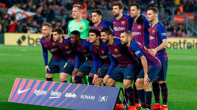 Las notas de los jugadores del Barça en el primer tiempo