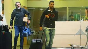 Leo Messi, a su llegada al aeropuerto de El Prat procedente de Quito