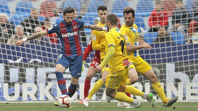 El Levante se acerca a la permanencia con un mertiorio punto ante el Espanyol