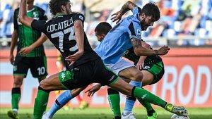 Luis Alberto durante un encuentro de la Lazio