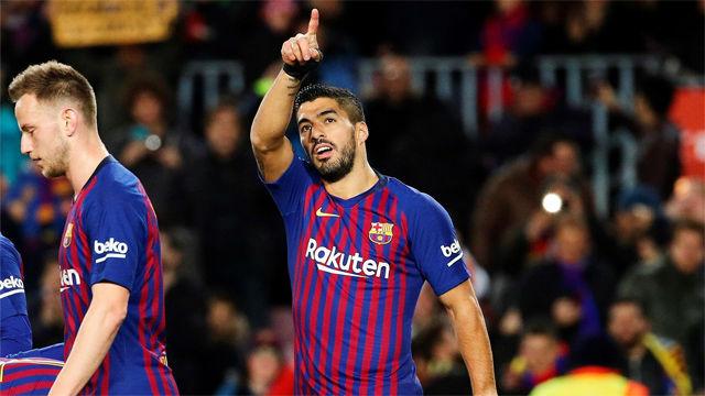 Luis Suárez abrió el marcador ante el Eibar