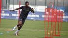 Ousmane Dembélé, en un entrenamiento del FC Barcelona en la Ciutat Esportiva Joan Gamper