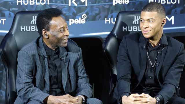 Pelé: Me hubiera gustado jugar con Mbappé