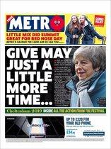Portada de Metro Daily Star del 15 de marzo de 2019