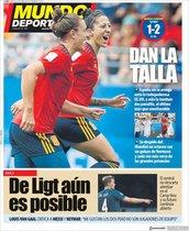 La portada de Mundo Deportivo del 25 de junio