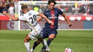 Rabiot, en un partido con el PSG