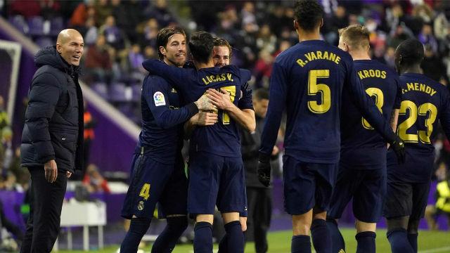 El Real Madrid se coloca líder de LaLiga tras vencer al Valladolid