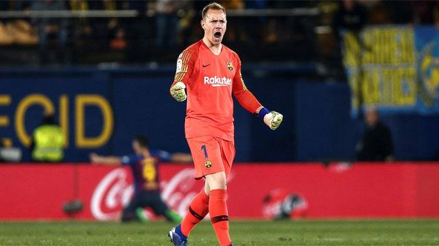 Ter Stegen salvó al Barça de una goleada