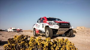 El Toyota, de pruebas en las dunas de Namibia