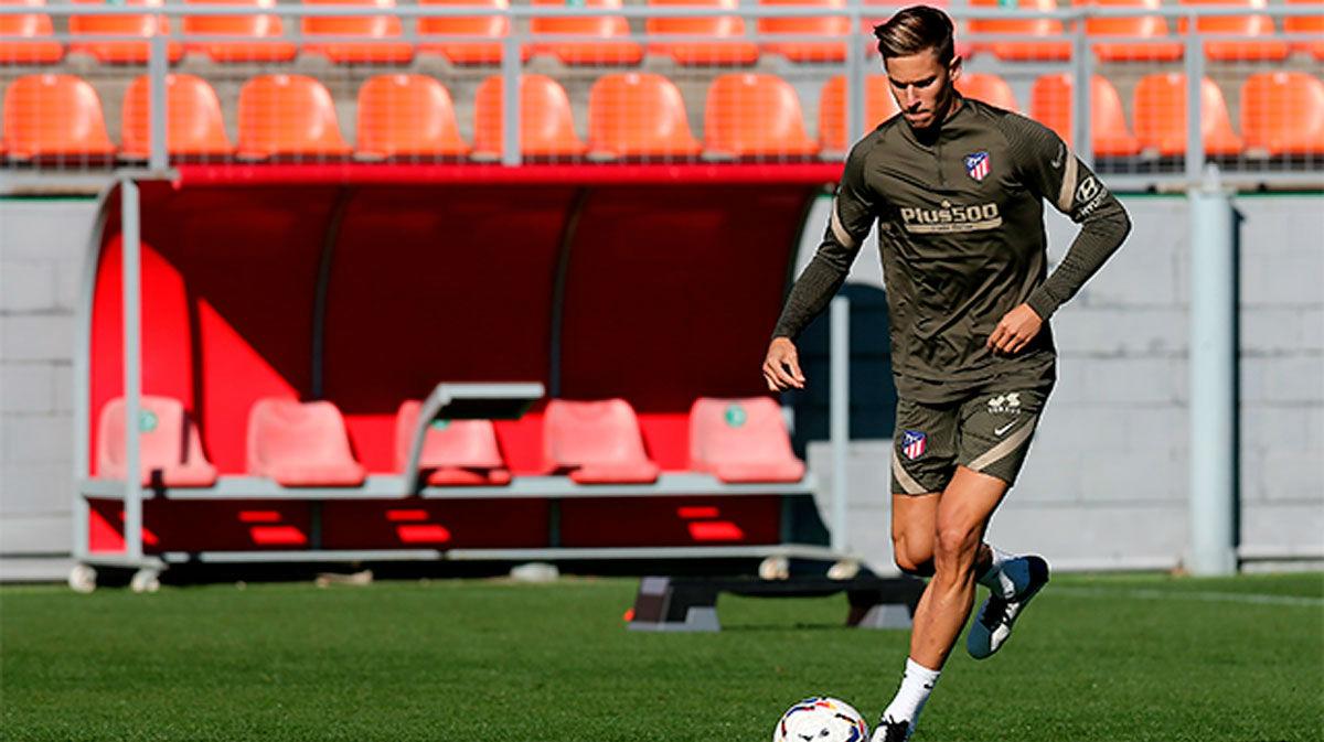 Último entrenamiento del Atlético de Madrid antes de recibir al Barça