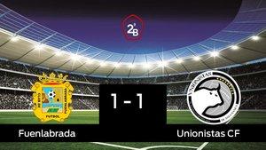 El Unionistas saca un punto al Fuenlabrada a domicilio 1-1