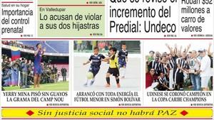 Yerry Mina, protagonista en los medios de comunicación de Colombia