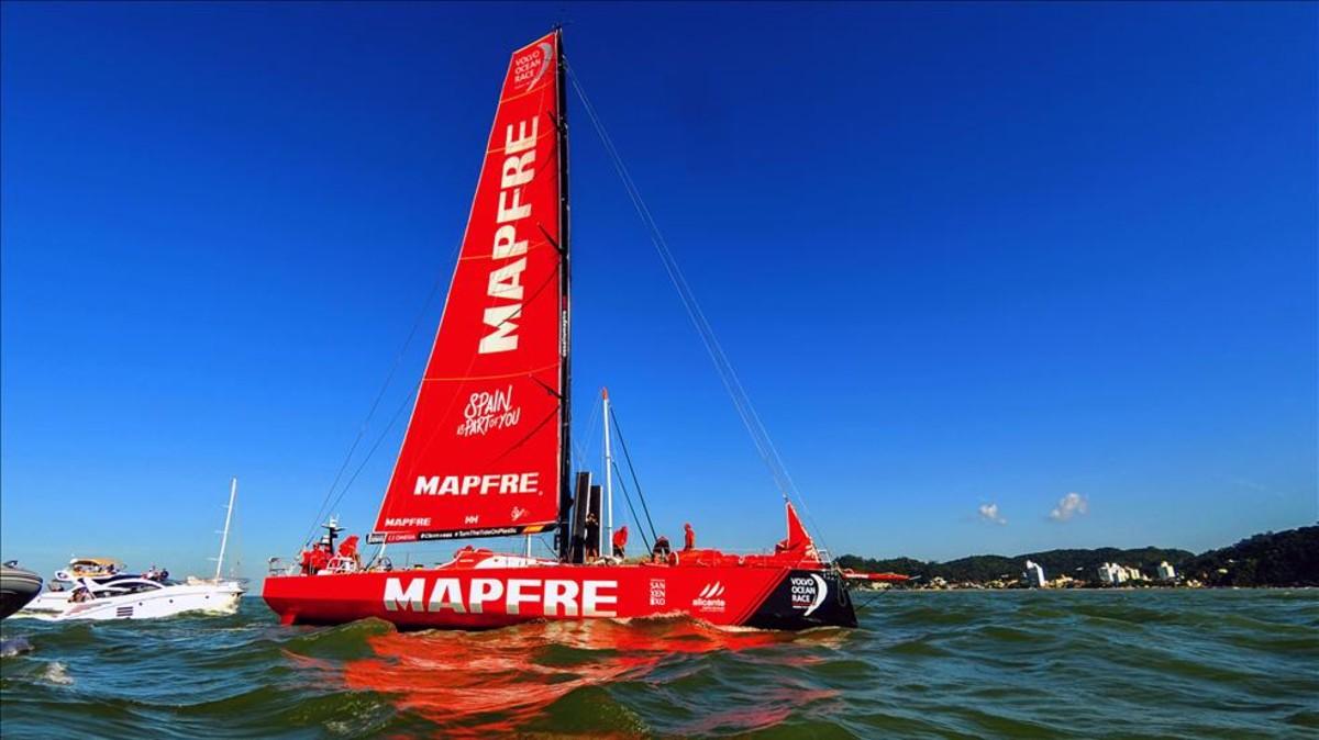 Resultado de imagen de El Mapfre recupera un vibrante liderato de la Volvo Ocean Race