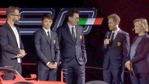 Vettel, en el transcurso de la presentación del SF90
