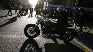 Motocicleta en Barcelona.