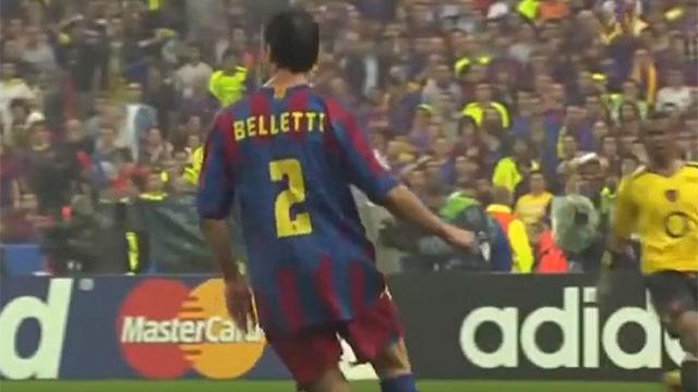 12 años del histórico gol de Belletti que le dio la Champions al Barça