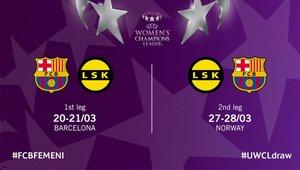 El Barça se mide al LSK en cuartos