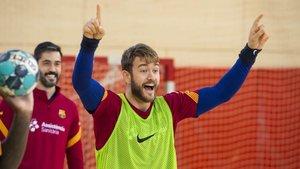 El Barça ha vuelto al trabajo con muy buen ambiente