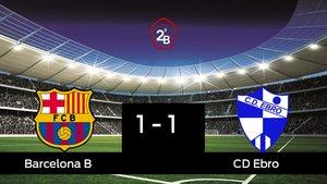 El Barcelona B y el Ebro empataron a uno