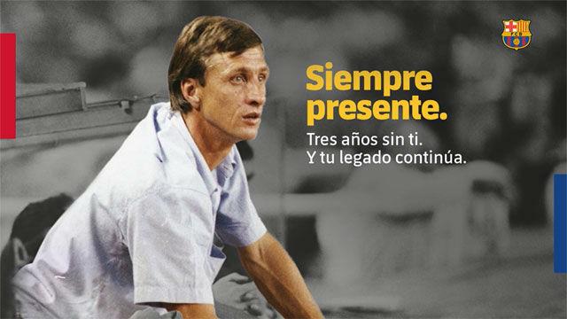 El bonito vídeo homenaje del Barça para Johan Cruyff
