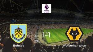 El Burnley y el Wolverhampton Wanderers se reparten los puntos tras su empate a uno