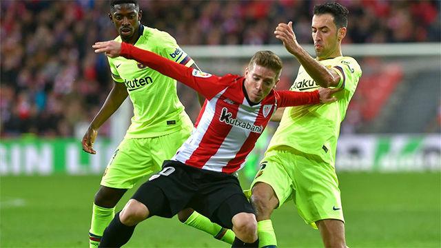 El control acrobático que casi lesiona a Busquets frente al Athletic
