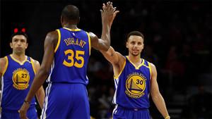 Durant y Curry, pareja estrella de la Conferencia Oeste