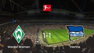 Empate a uno entre el Werder Bremen y el Hertha BSC