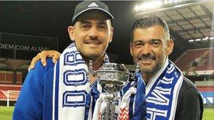 Iker mostró su agradecimiento al técnico del Oporto