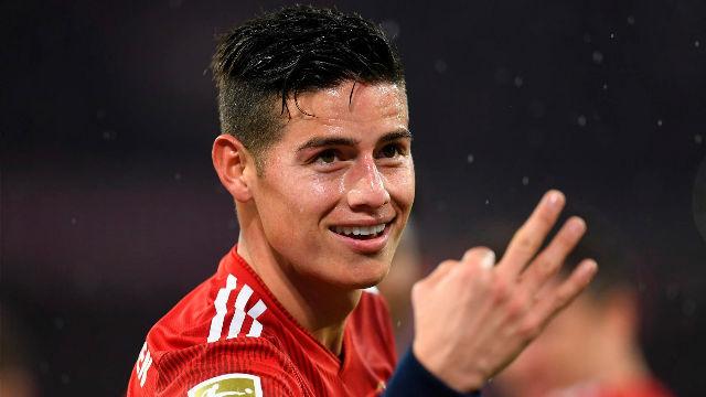 James marca su primer hat-trick en la Bundesliga