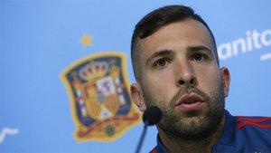 Jordi Alba, jugador del Barça en la concentración de España
