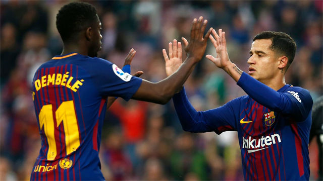 LALIGA | FC Barcelona - Villarreal (5-1): Combinación Coutinho-Dembélé