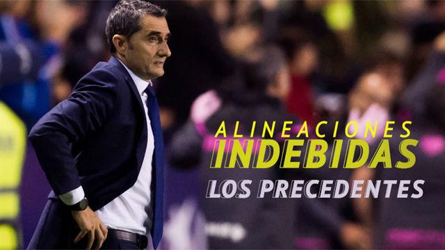Las alineaciones indebidas en el fútbol español