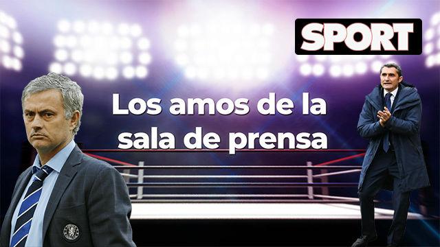 Los amos de la sala de prensa: de la entrada triunfal de Mourinho a la gastronomía de Valverde