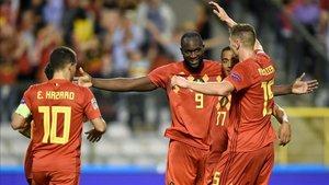 Lukaku anotó dos goles para tumbar a Suiza