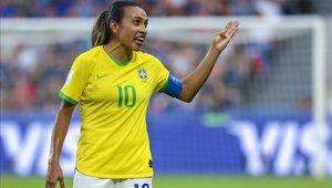 Marta es la figura de la selección brasileña