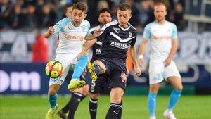 Maxime López en un encuentro de la Ligue 1