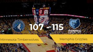 Memphis Grizzlies vence a Minnesota Timberwolves (107-115)