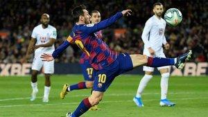 Messi marcó para el Barcelona