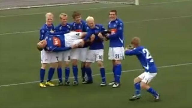 El mítico equipo islandés de las locas celebraciones, rival del Espanyol. ¿Las recuerdas todas?