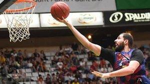 Nikola Mirotic, primer partido de Liga con el FC Barcelona, primera victoria y mejor jugador de la jornada
