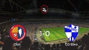 El Olot logra la victoria tras vencer 1-0 al Ebro