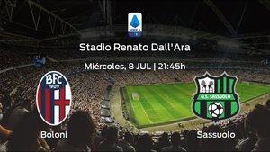 Previa del encuentro de la jornada 31: Bolonia - Sassuolo