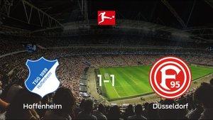 Un punto para cada uno en el Hoffenheim-Fortuna Düsseldorf (1-1)