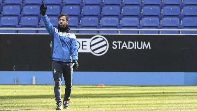 Quique Sánchez Flores en la rueda de prensa previa al Athletic