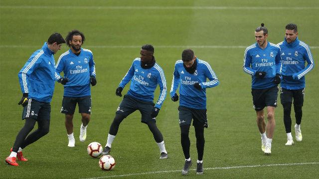 El Real Madrid se entrena pensando en el Getafe