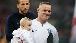 Rooney en la previa del partido