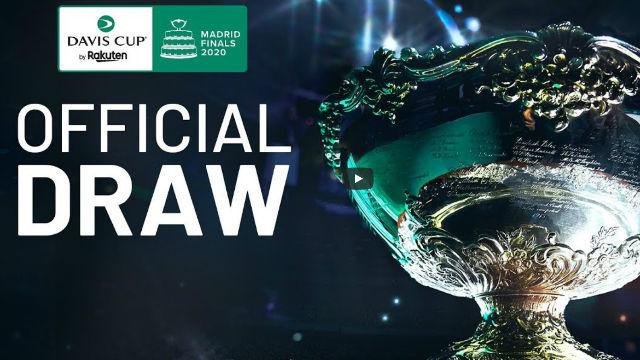 Sigue en directo el sorteo de la Copa Davis 2020