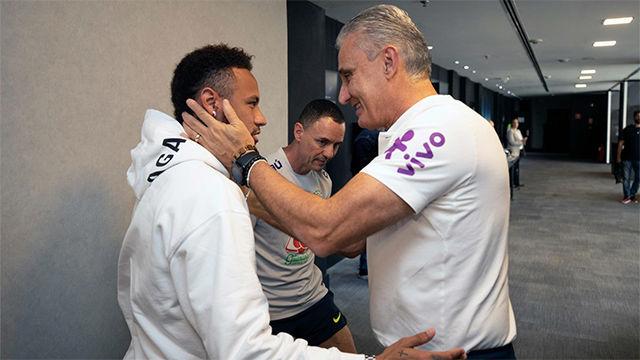 Tite explica cómo se encuentra Neymar tras la visita del futbolista