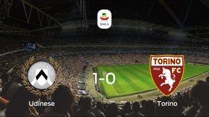 El Udinese consigue la victoria en casa frente al Torino (1-0)